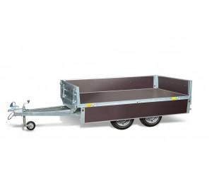 Przyczepa Magicus 300x150 typu transporter, zdejmowane burty