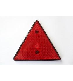 Odblask trójkątny z otworami do mocowania za pomocą śrub