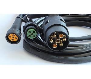 Wiązka elektryczna do przyczep lekkich, instalacja 7 pin