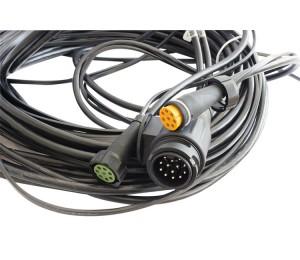 Wiązka elektryczna do przyczep ciężkich, lawet, instalacja 13 pin